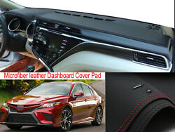 Leather Dash Mat Dashboard Cover Dashmat Interior Pad For Toyota Camry 2018-2021