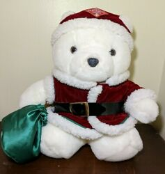 Vintage Dayton Hudson Santa Bear Plush Toy Collectible Christmas Santabear 1998
