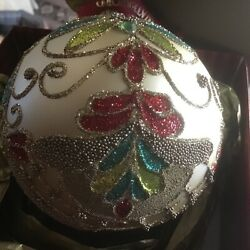 Waterford Ornament Holiday Heirlooms Jim O'leary Beaded Lace Champagne Ball L Ed
