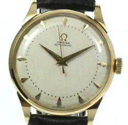 Omega 18k Yellow Gold Antique Harf Rotor Cal,352 Automatic Men's_456678