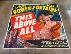 This Above All Six Sheet Movie Poster Tyrone Power 1942 Hollywood Posters