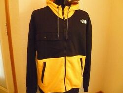 The North Face Men#x27;s Graphic Coll Full Zip Hoodie in yellow Black XL NWT $90 $54.65