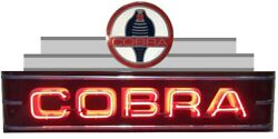 Large 4 Ft Ford Cobra Neon Garage Sign - Made In Usa 3 Year Warranty