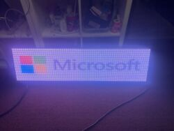 2'x4' Led Sign Full Color 24x48 Programmable Scrolling Message Outdoor Display