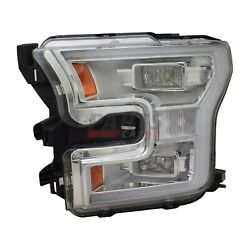 New Led Headlight Assembly Left Driver Side Fits 2015-2017 Ford F-150 Fl3z13008h