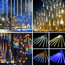 540 Led Christmas Lights Meteor Shower Rain 10 Tube Snowfall Tree Outdoor Decor