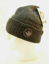 Canada Weather Gear Charcoal Thermal Fleece Lined Logo Beanie Cap Msrp 30