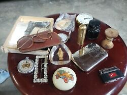 Vintage Pocket Watch Glasses Buckle Hand Warmer Perfume Old Antique Items...