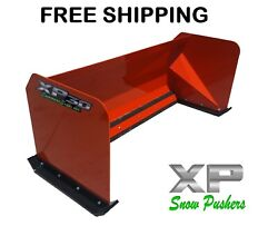 8and039 Xp30 Red Skid Steer Snow Pusher Bobcat Case - Free Shipping - Rtr