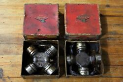 Lot Of 2 Vintage Spicer Universal Needle Bearing Joint Parts 5-21x Use Tool