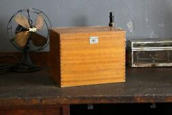 Antique Japan Tea Box Wooden Tool Box Ice Chest Industrial Galvanized Cooler Old