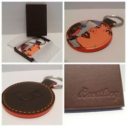 Breitling Watch Keyring Keychain Leather Brand New Iconic Kevin T Kelly Pop Art