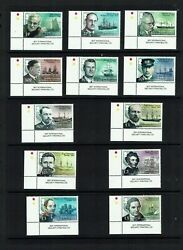South Georgia: 2015 Ships Scientists and Explorers MNH set