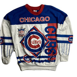 Vintage Made In Usa Mlb Chicago Cubs Spell Out Longsleeve Youth Size Medium