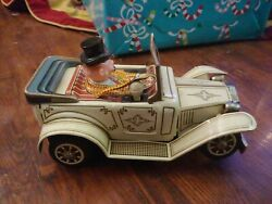 Alps Vintage Tim Car. Made In Japan. Rare Collectible. Battery Operated Tin Toy
