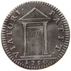 Papal States 1/2 Grosso 1750 Benedict Xiv. T96 645