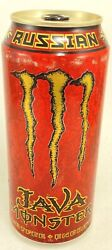 Monster Energy Drink Java Russian Full Can Sealed With Flaws