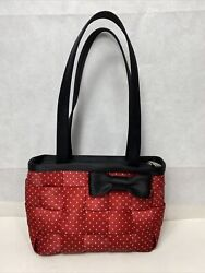Harveys For Disney Couture Minnie Mouse Red Polka Dot Seatbelt Purse Handles Bow