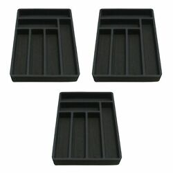 3 Drawer Organizers Silverware And Flatware Insert 12.75 X 18 6 Compartment
