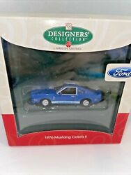American Greetings Blue 1976 Ford Mustang Christmas Ornament New