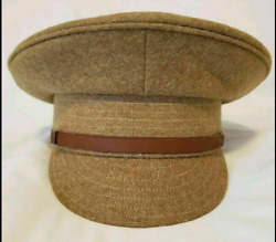 Ww1 Uk British Army Military Officers Enlisted Trench Wool Visor Hat Cap