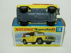 Matchbox Superfast No 18 Field Car Without Pat App Exib Extremely Rare