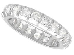 1.45ct Diamond And 18ct White Gold Full Eternity Ring - Vintage Circa 1940