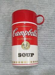 Old 1998 Campbell's Soup Can-tainer Individual Insulated Thermos Bottle Free Sh