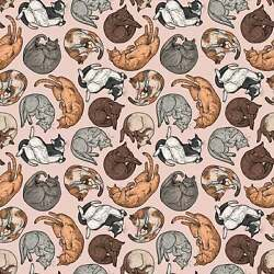 Cat Nap Cat Fabric Fabric by the Yard Freespirit Cat Tales Collection
