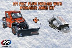 Kfi Utv 72 Pro Poly Hydraulic Angle Plow Package 06-09 Arctic Cat 650 Prowler