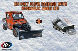 Kfi Utv 72 Pro Poly Hydraulic Angle Plow Package 15-17 Arctic Cat 700 Prowler
