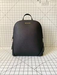 Michael Kors Cindy Large Slim Backpack Saffiano Leather Black Bag $115.00