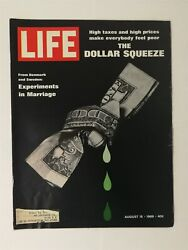 Life Magazine August 15, 1969 - The Dollar Squeeze - Sears Screamer Bicycle Ad
