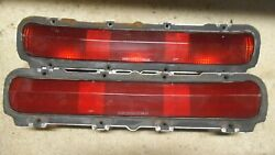 1966 66 Pontiac Gto Original Gm Taillight Housings Left And Right And Lenses
