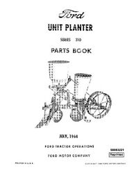 New Holland Ford Pa8322 C Series 310 Unit Planter Parts Catalog