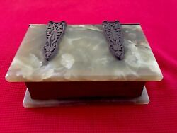 Antique Metal And Stone Artwork With Hidden Compartment To Store Valuable Treasure