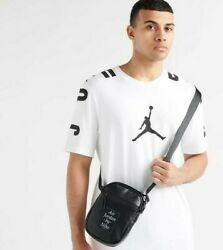 Nike Air Jordan Black Crossbody Shoulder Messenger Bag New 9A0225 023 $25.87