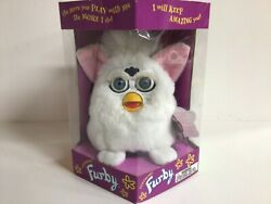 Rare 1998 Furby New In Box 70-800 White, Blue Eyes, Pink Ears Sealed In Box L@@k