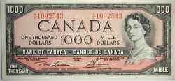 1954 Canada 1000 Nice Canadian Vf Priced Right