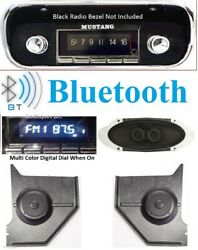 1967-1968 Mustang Bluetooth Radio + Dash Speaker + Hardtop Kick Panels W/ac 740
