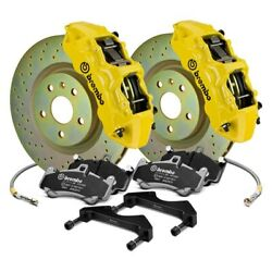 For Chevy Camaro 16-19 Gt Series Cross Drilled 1-piece Rotor Front Big Brake Kit