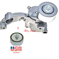 Belt Tensioner Assembly And Idler Pully Fit Lexus 2006-2018 Toyota 2005-2018