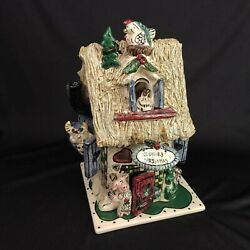 Blue Sky Clayworks Country Christmas House And Plate Heather Goldminc Retired