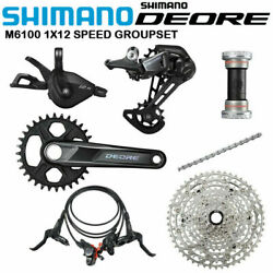 Shimano Deore M6100/m6120 Mtb Bicycle Groupset 1x12speed 30t/32t/170mm/175mm 51t