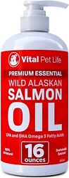 Omega 3 Salmon Fish Oil For Dogs And Cats Silky Coat Inflammation Reducer