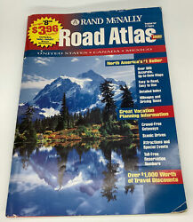 Rand Mcnally Atlas 1995 Includes United States,canada,mexico And Great Vintage Ads