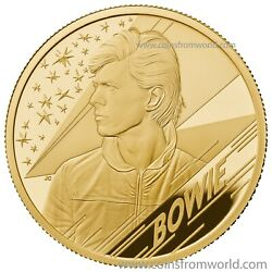 Great Britain Uk 2020 Andpound25 Music Legends David Bowie Gold Proof Coin Royal Mint