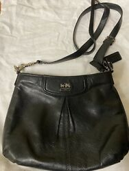 COACH Horse amp; Carriage Black Crossbody Purse $65.00