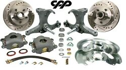 73-87 Chevy C10 Gmc Truck Stock Spindle 12 Disc Brake Kit 6 Lug Cross Drilled