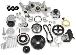 Holley 20-180p Premium Mid Mount Polished Complete Ls Accessory Kit